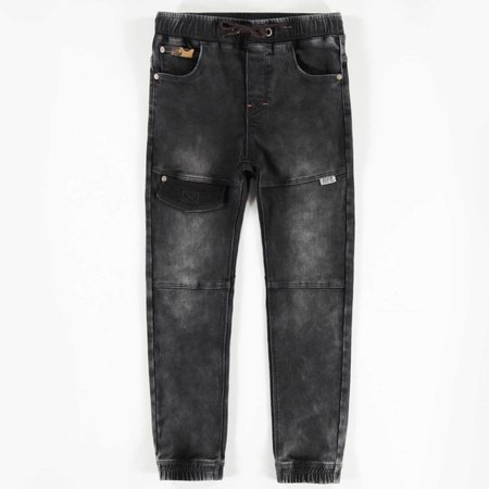 Jogg Denim Pants - Charcoal