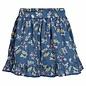 Cotton Skirt - Blue Floral