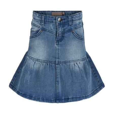 Denim Flounce Skirt