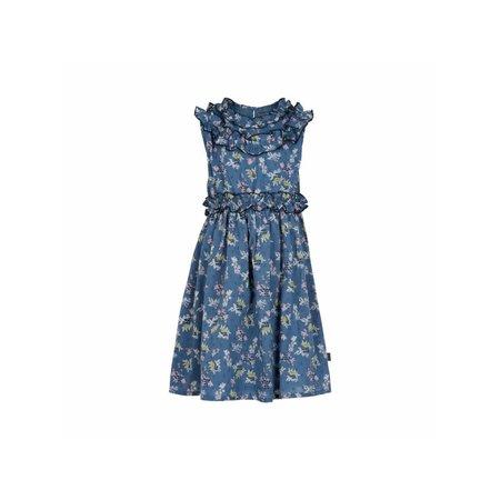 Cotton Dress - Blue Floral
