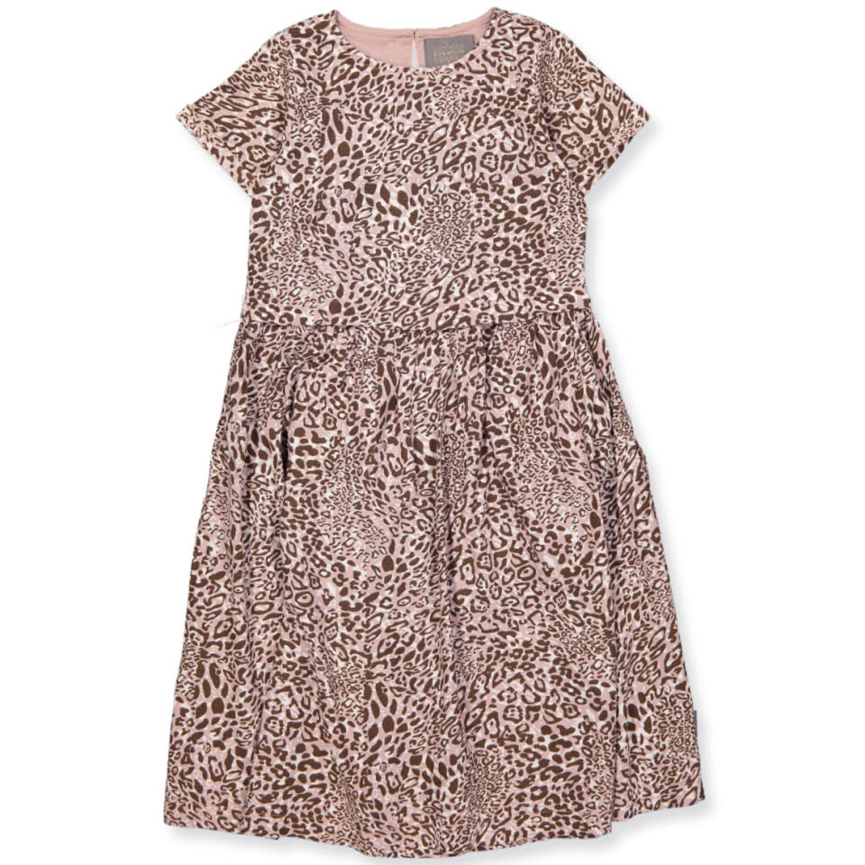 Cotton Dress - Adobe Rose Animal Print