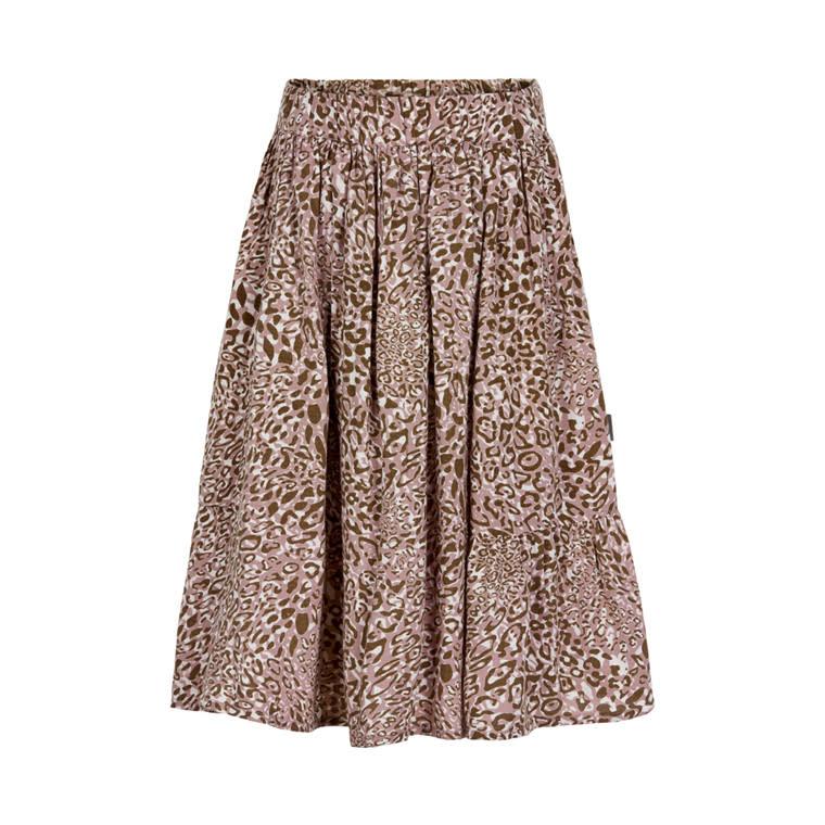 Leopard Print Cotton Skirt