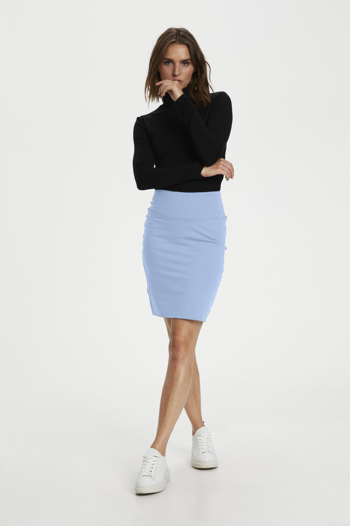 Penny Skirt - Chambray Blue