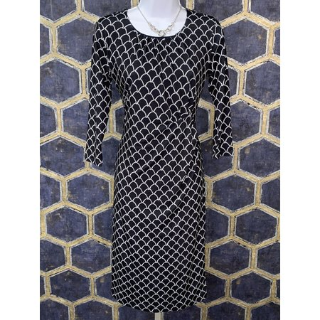 Dress with Side Tuck - Navy Cord