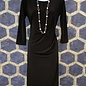 Dress with Side Tuck - Black
