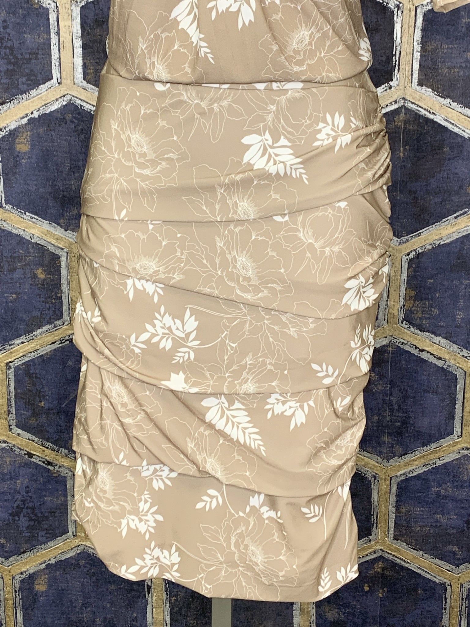 Layered Skirt - Taupe Floral