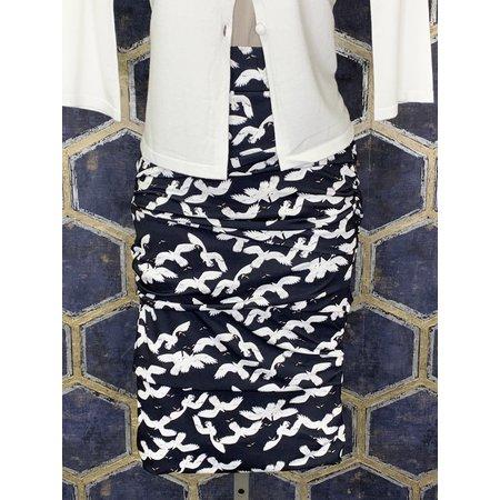 Layered Skirt - Navy Crane