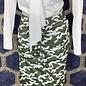 Layered Skirt - Cedar Green Crane