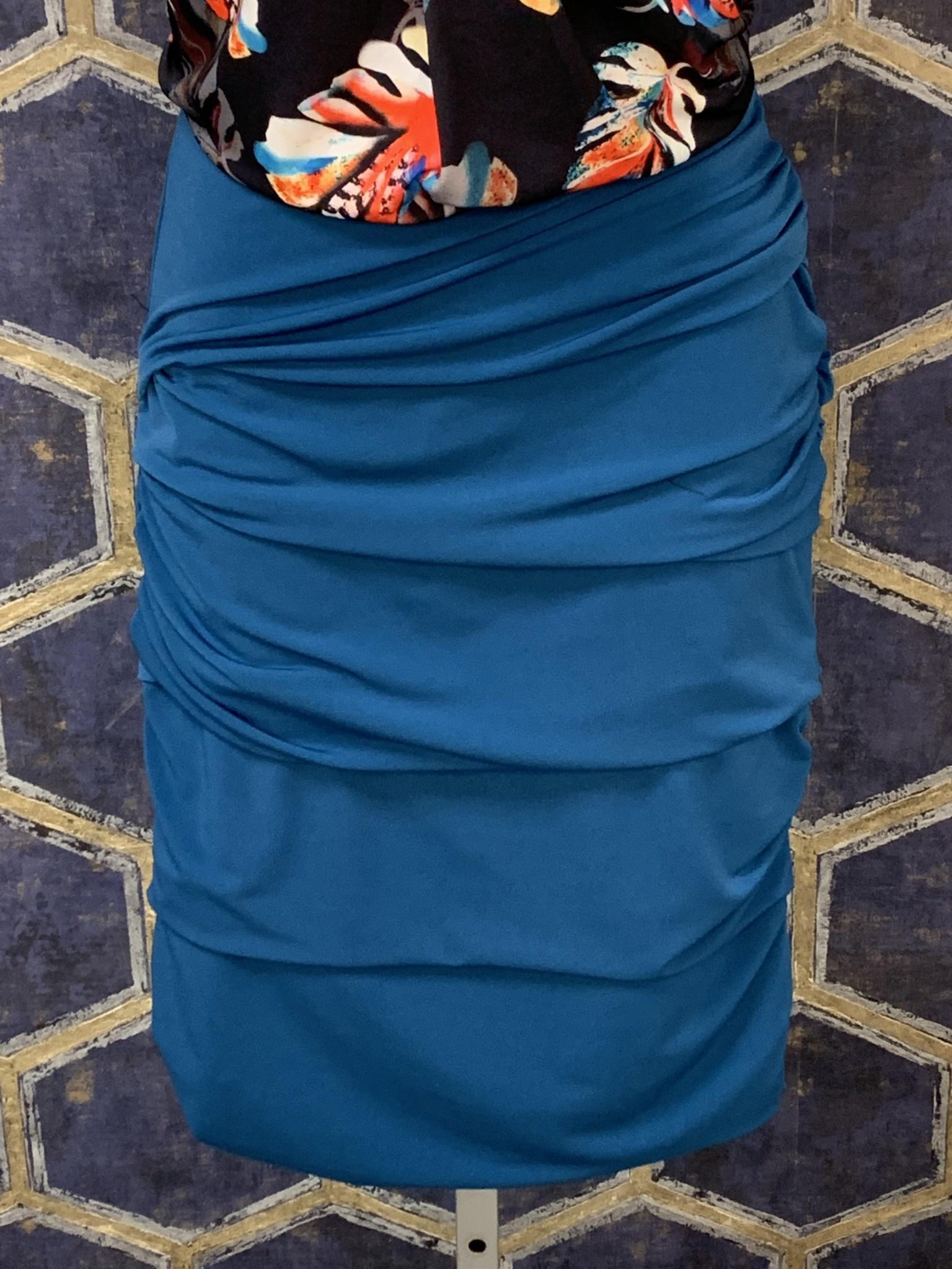 Layered Skirt - Peacock Blue