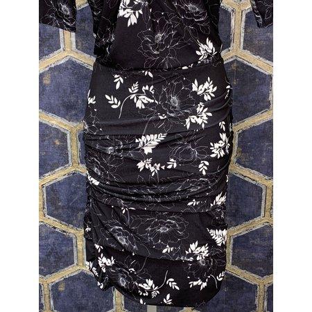 Layered Skirt - Black Floral