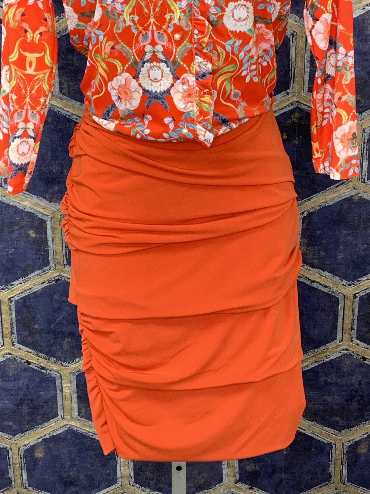 Layered Skirt - Tomato
