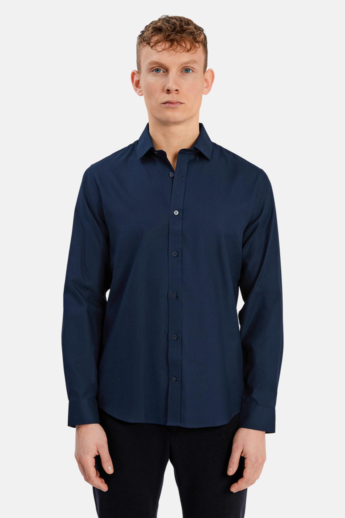 Mens Dress Shirt - Navy