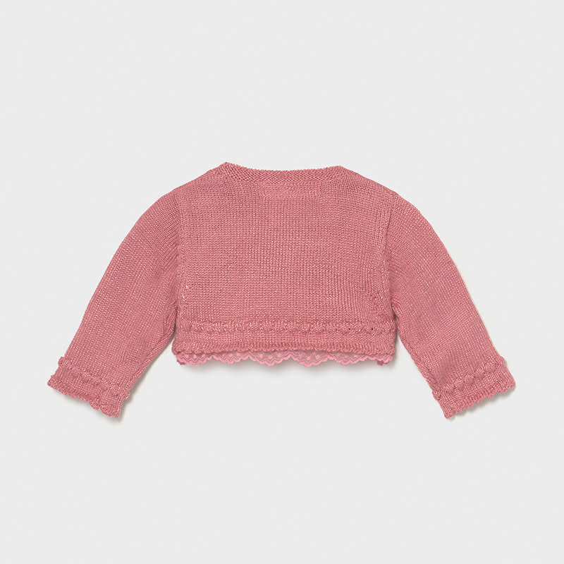 Lace Trimmed Knit Bolero