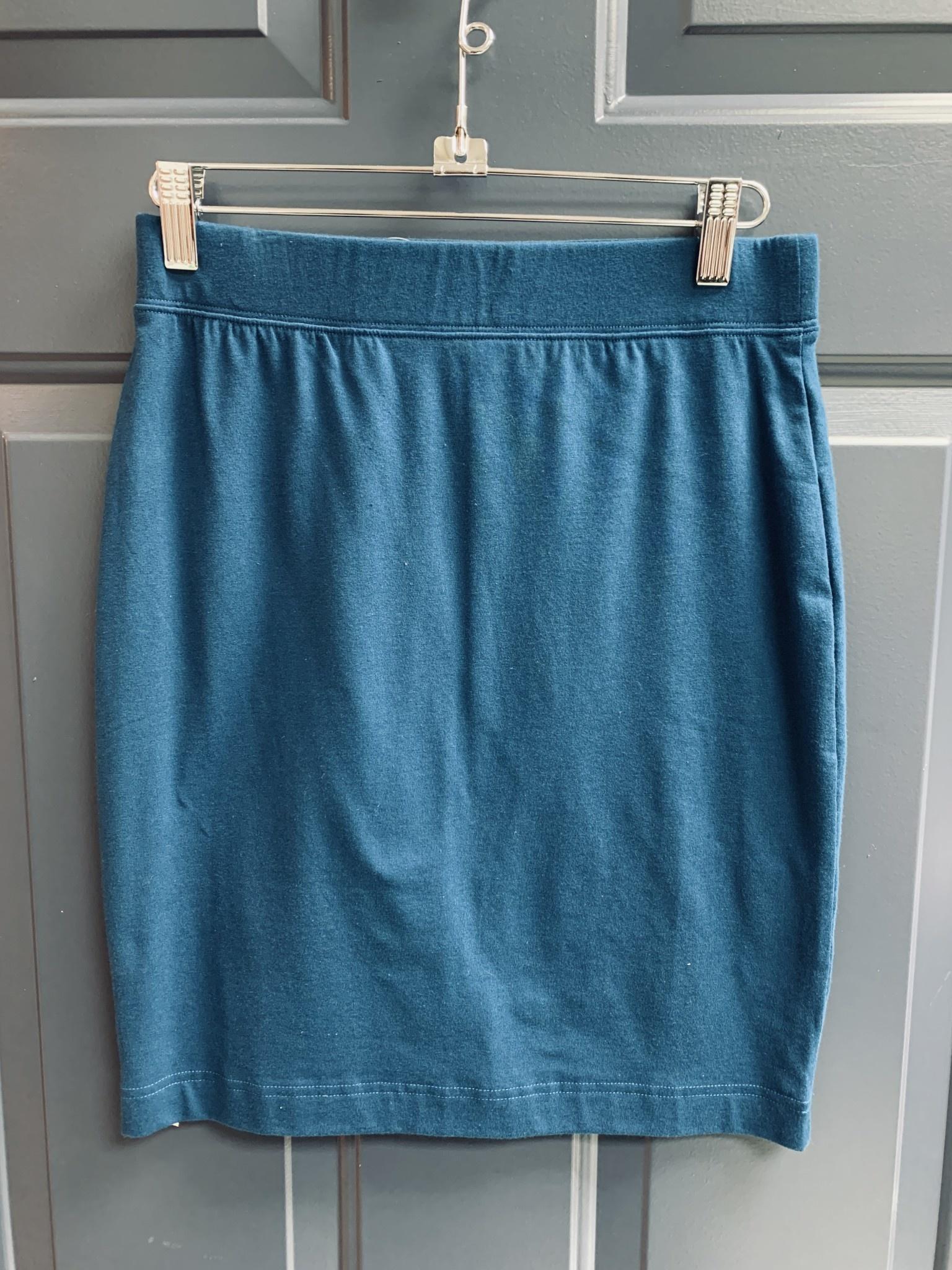 Jersey Skirt - 54cm - Petrol Blue