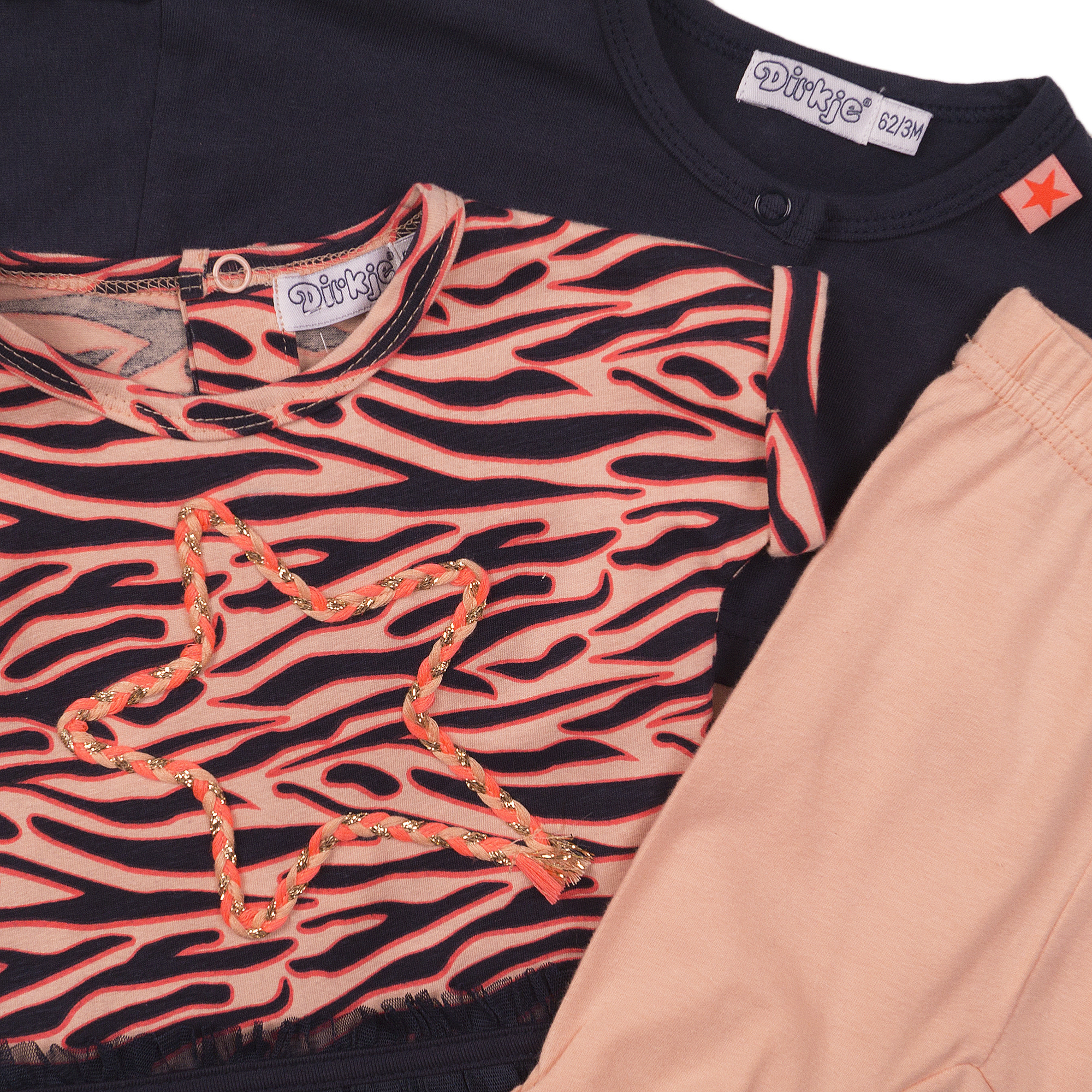 Tiger Dress with Bolero & Leggings Set
