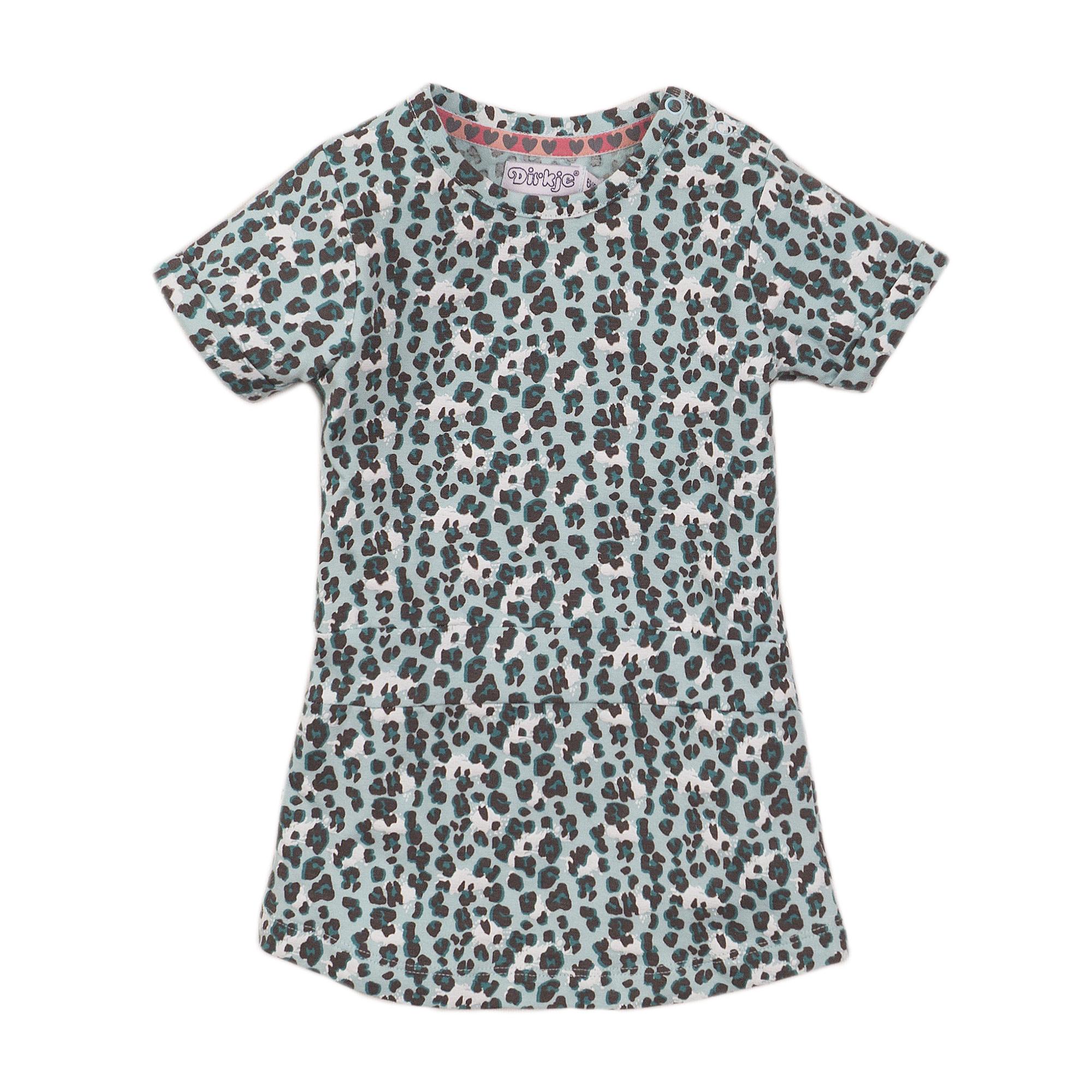 Teal Leopard Print Dress