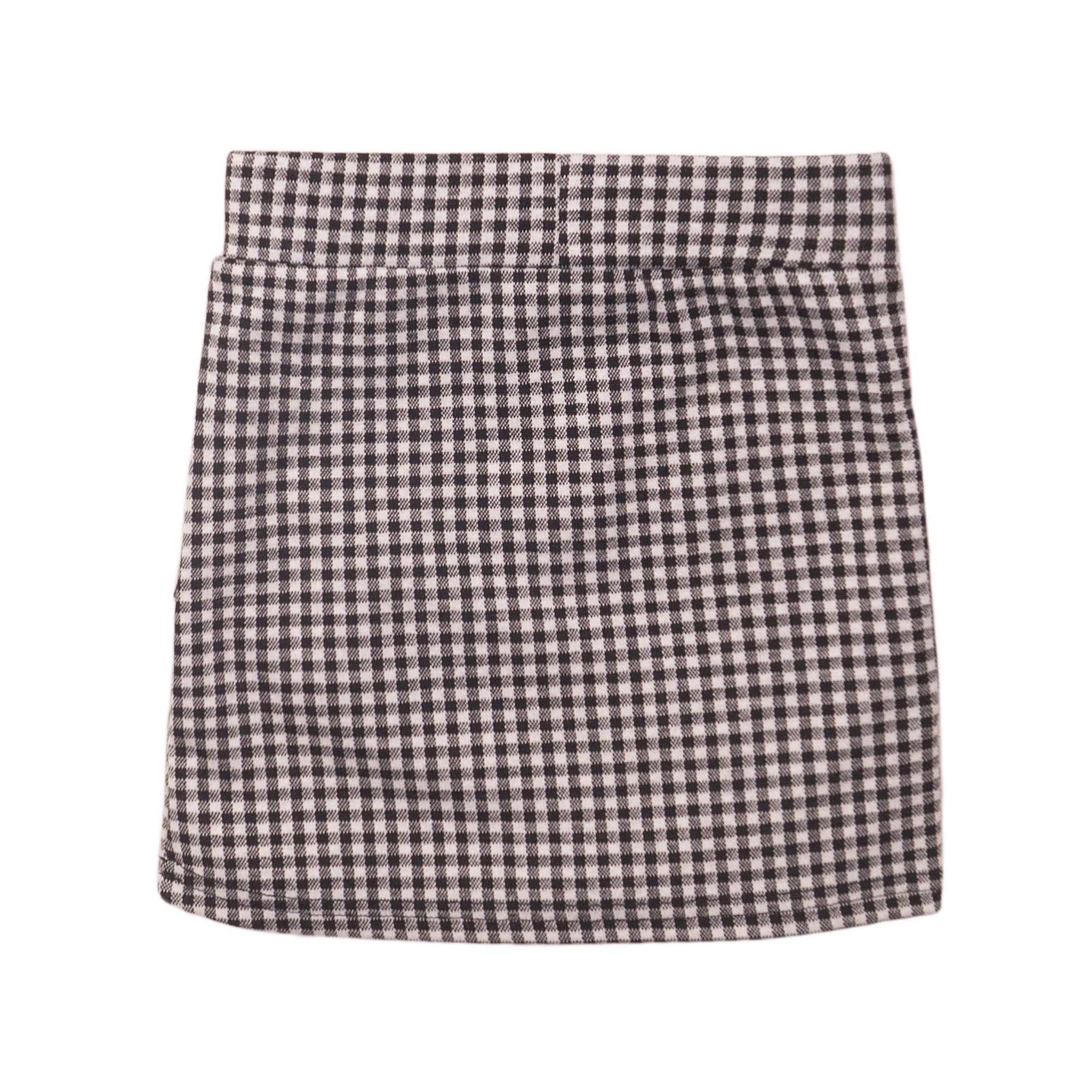 Checked Ruffle Skirt