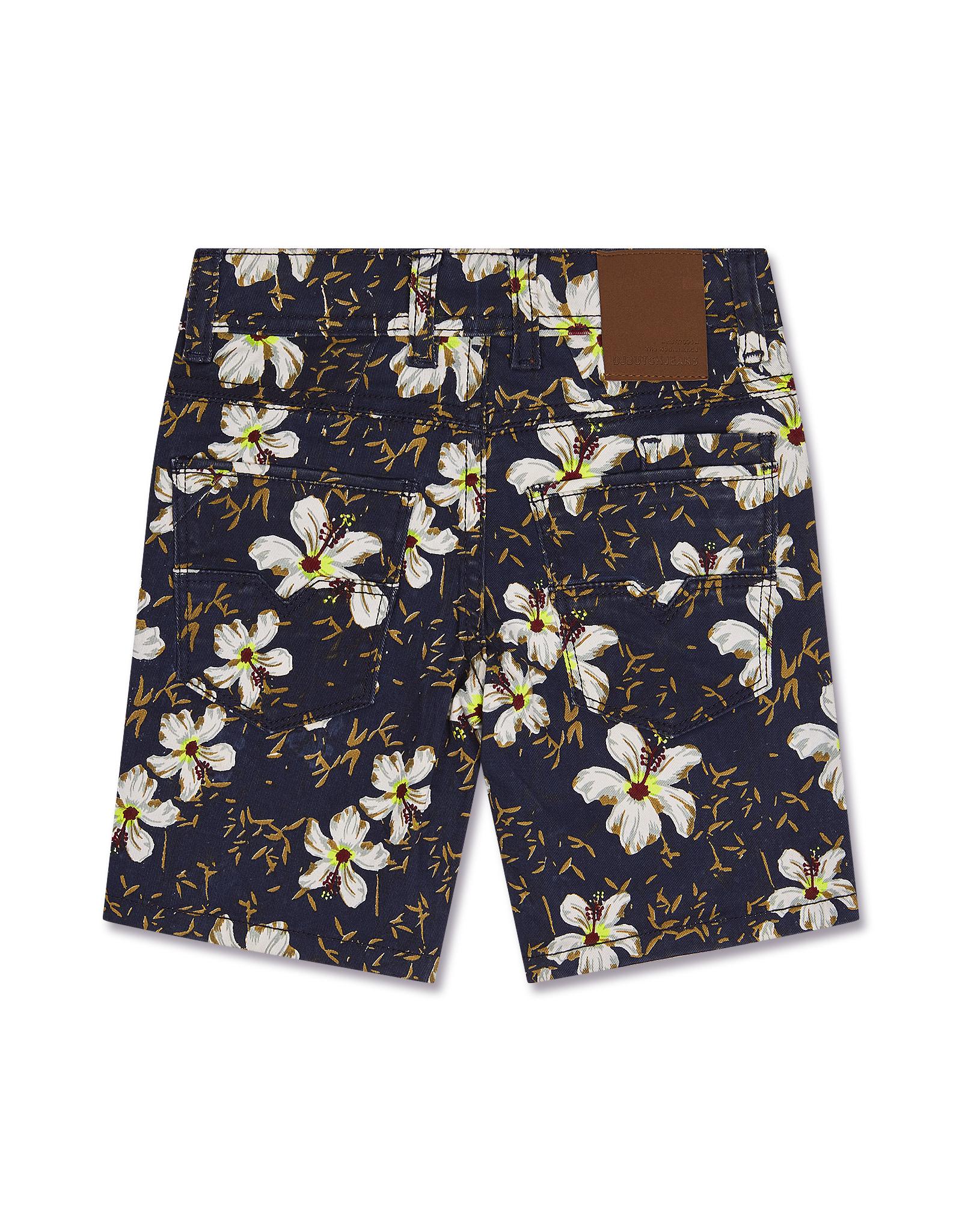 Tropical Denim Shorts