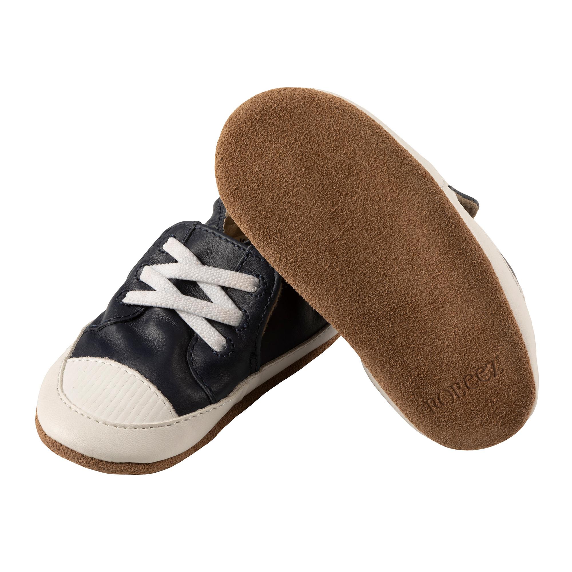 Corey Navy Robeez Shoes - Soft Soles