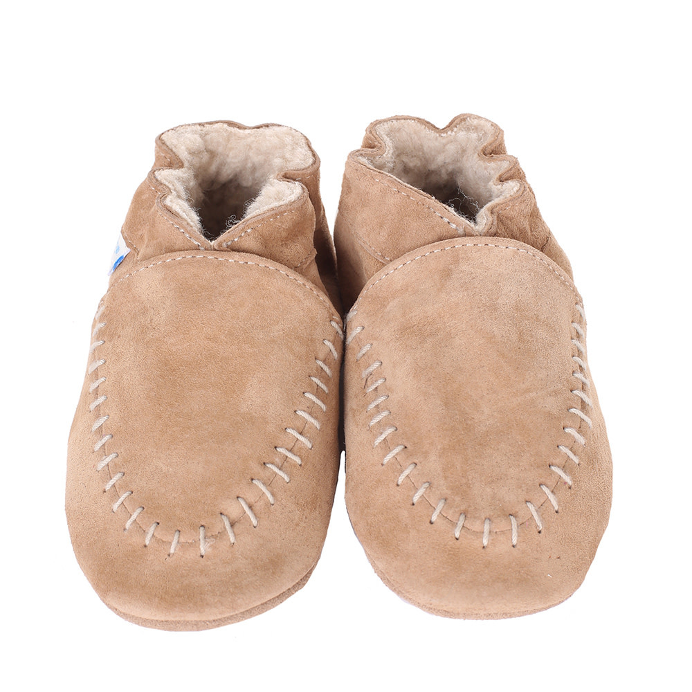 Taupe Cozy Robeez Moccasin - Soft Soles