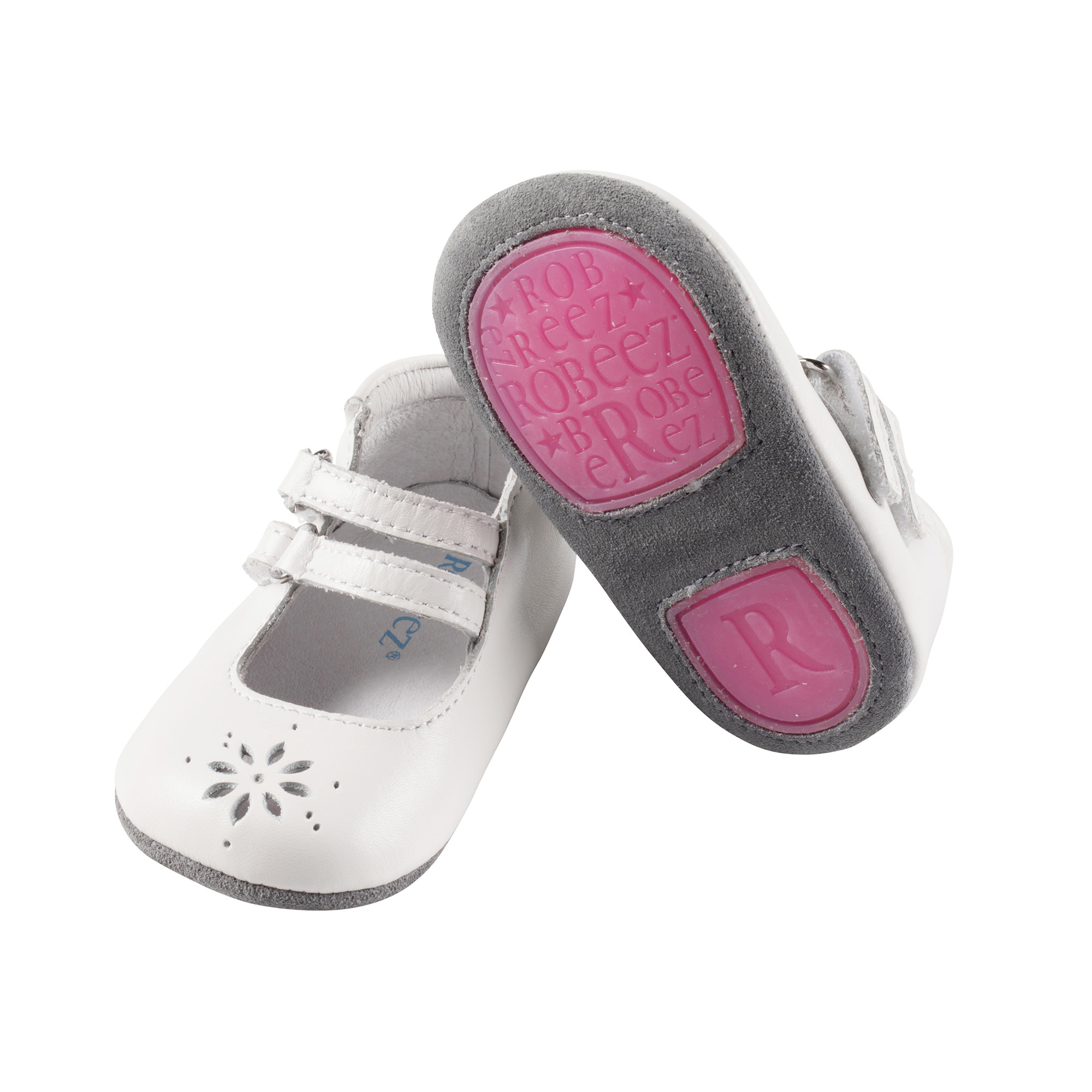 Audrey White Robeez Shoes - Mini Shoez