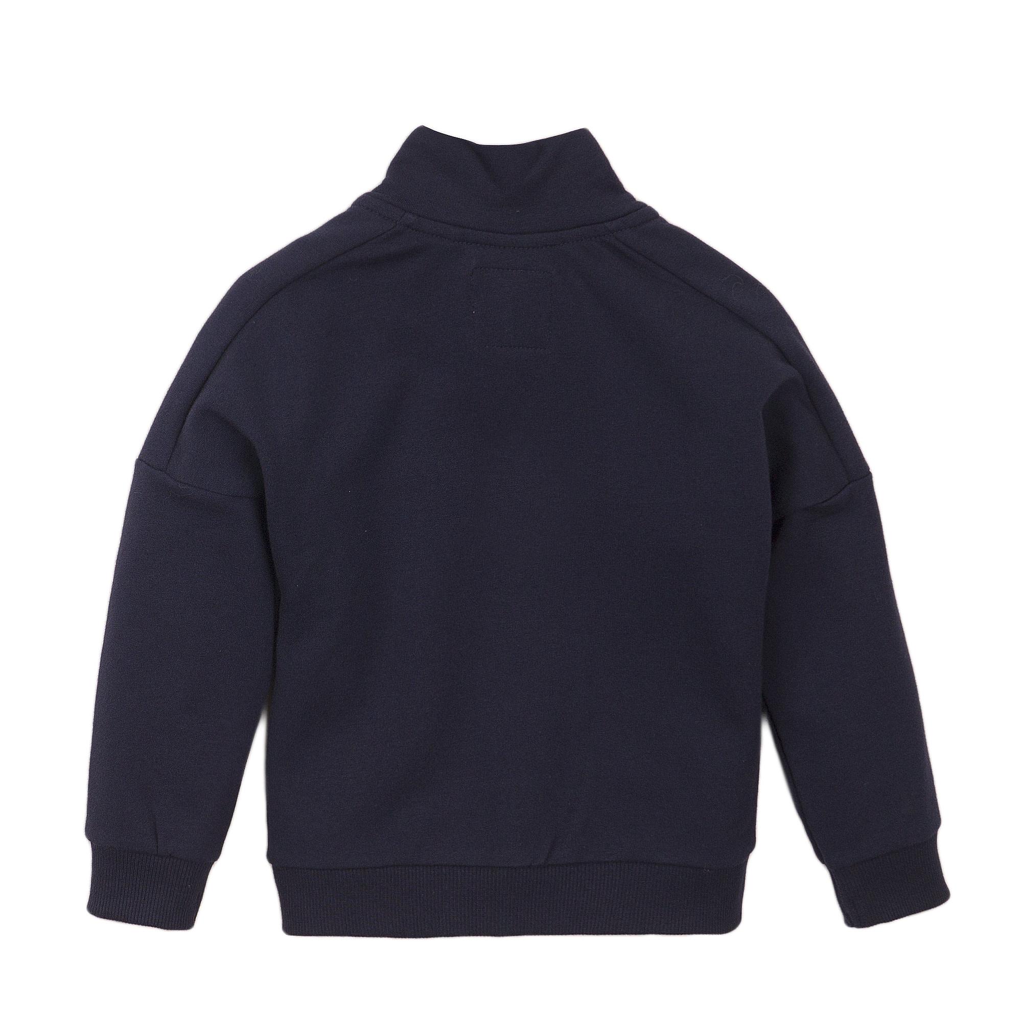 Navy Bomber Style Sweater