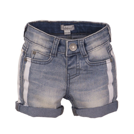 Contrast Denim Shorts