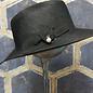 Ladies Hat with Pearl Drop - Black