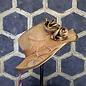 Gold Hat with Satin Rosette & Wavy Brim