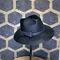 Navy Western Style Hat with Narrow Brim & Leatherette Bow