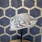 Light Grey Ladies Hat with Silk Flower