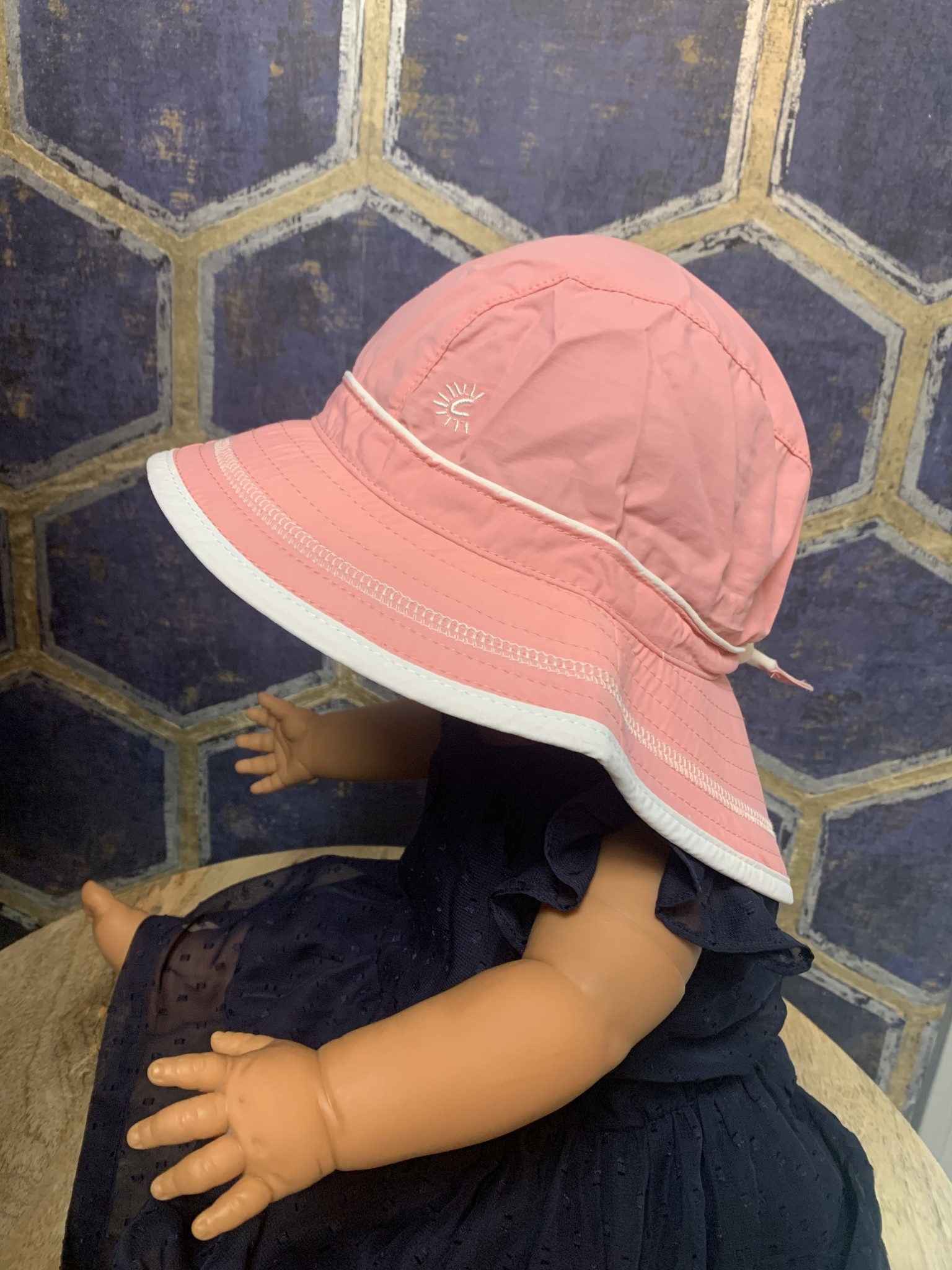 Quick-Dry Hat with Neck Shade - Blush Pink