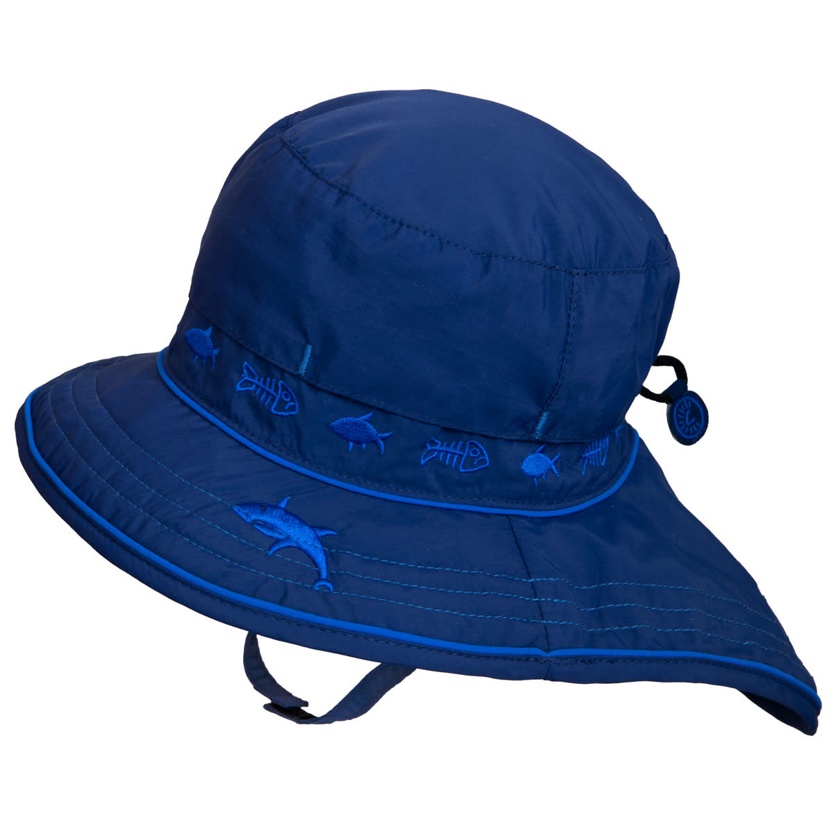 Quick - Dry Hat with Neck Shade - Navy Blue