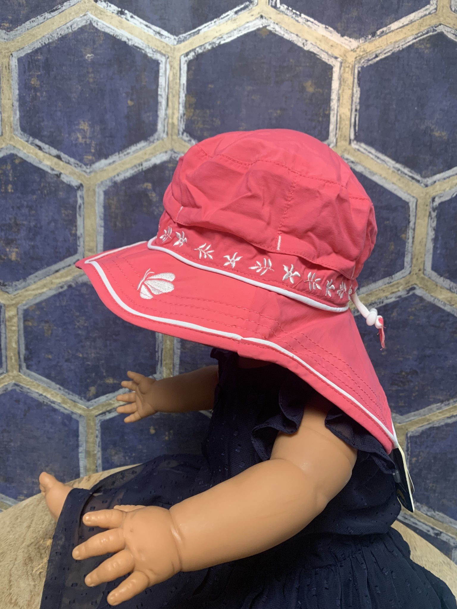 Quick - Dry Hat with Neck Shade - Hot Pink