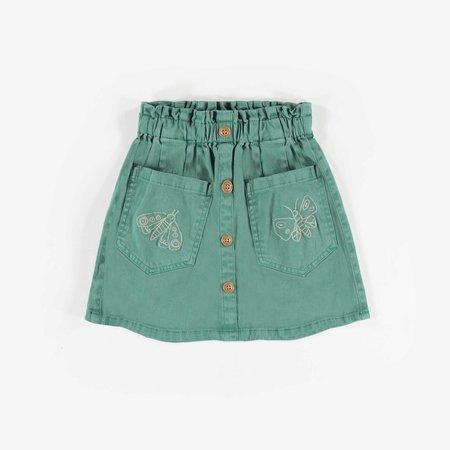 Teal Denim Skirt