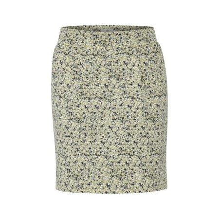 Kate Print Skirt - Swamp Green