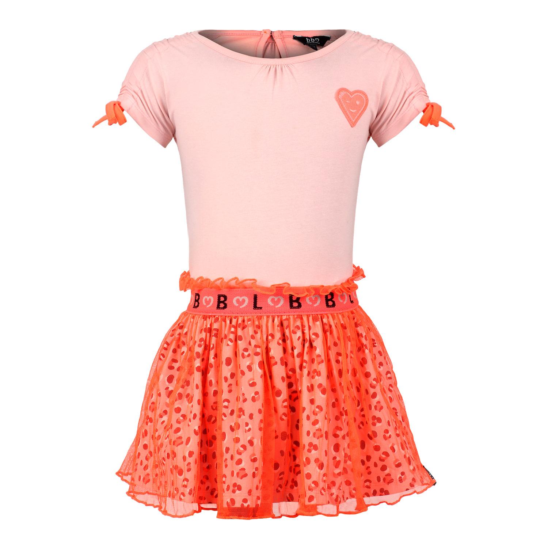 Coral Leopard Skirt Dress