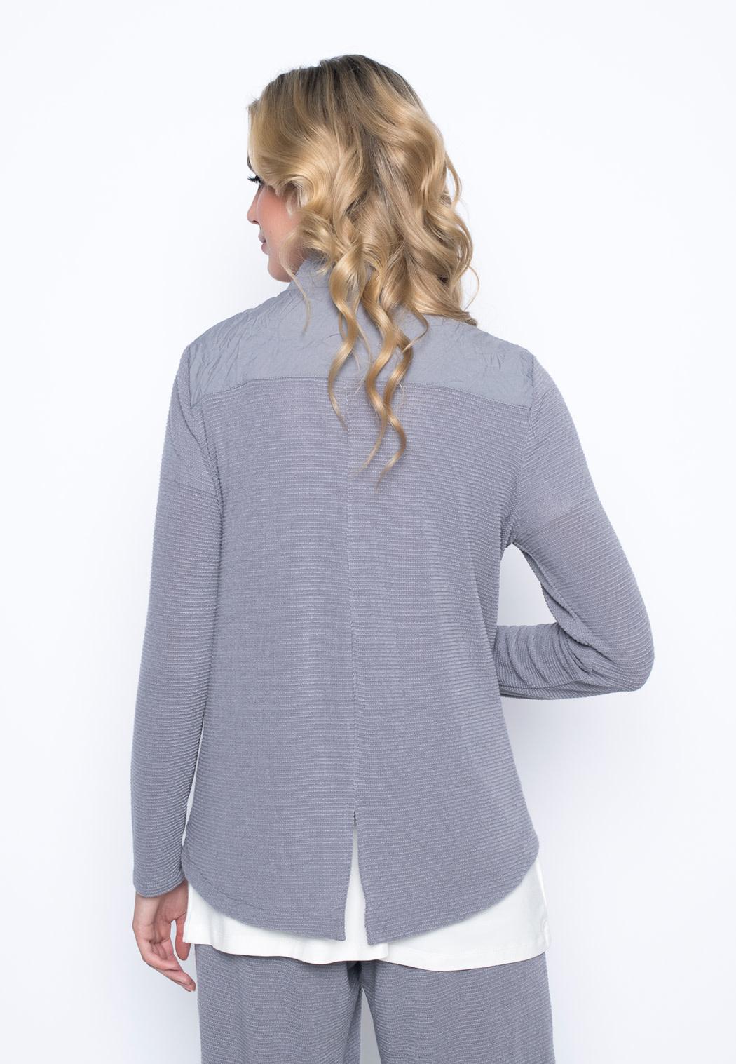 Zip Front Stand Collar Jacket - BLACK