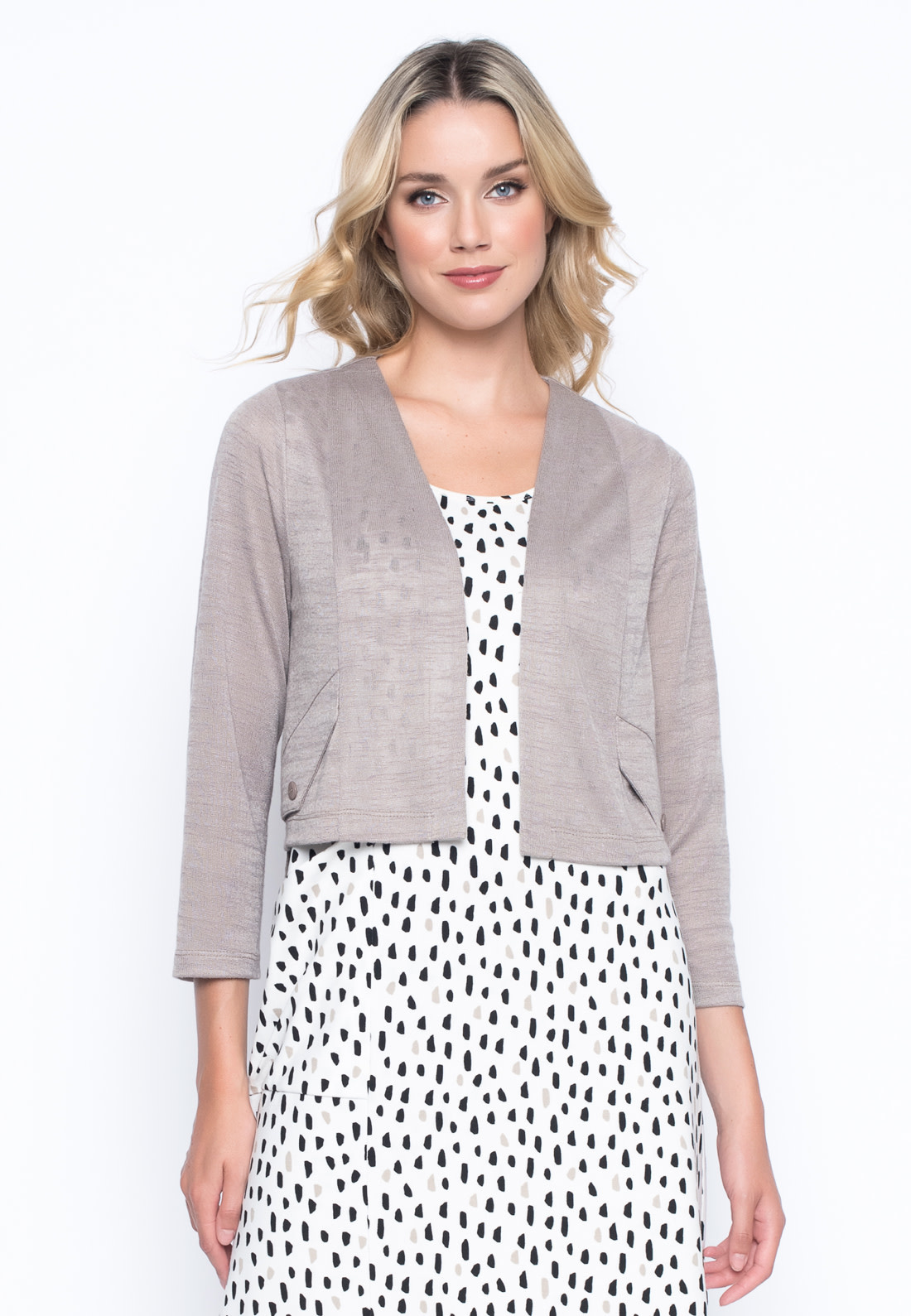 Cropped Jacket with Pocket Flap
