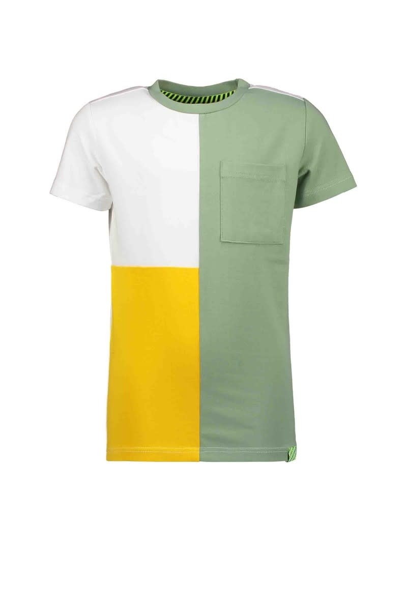 Color Block Tee - Hunter Green