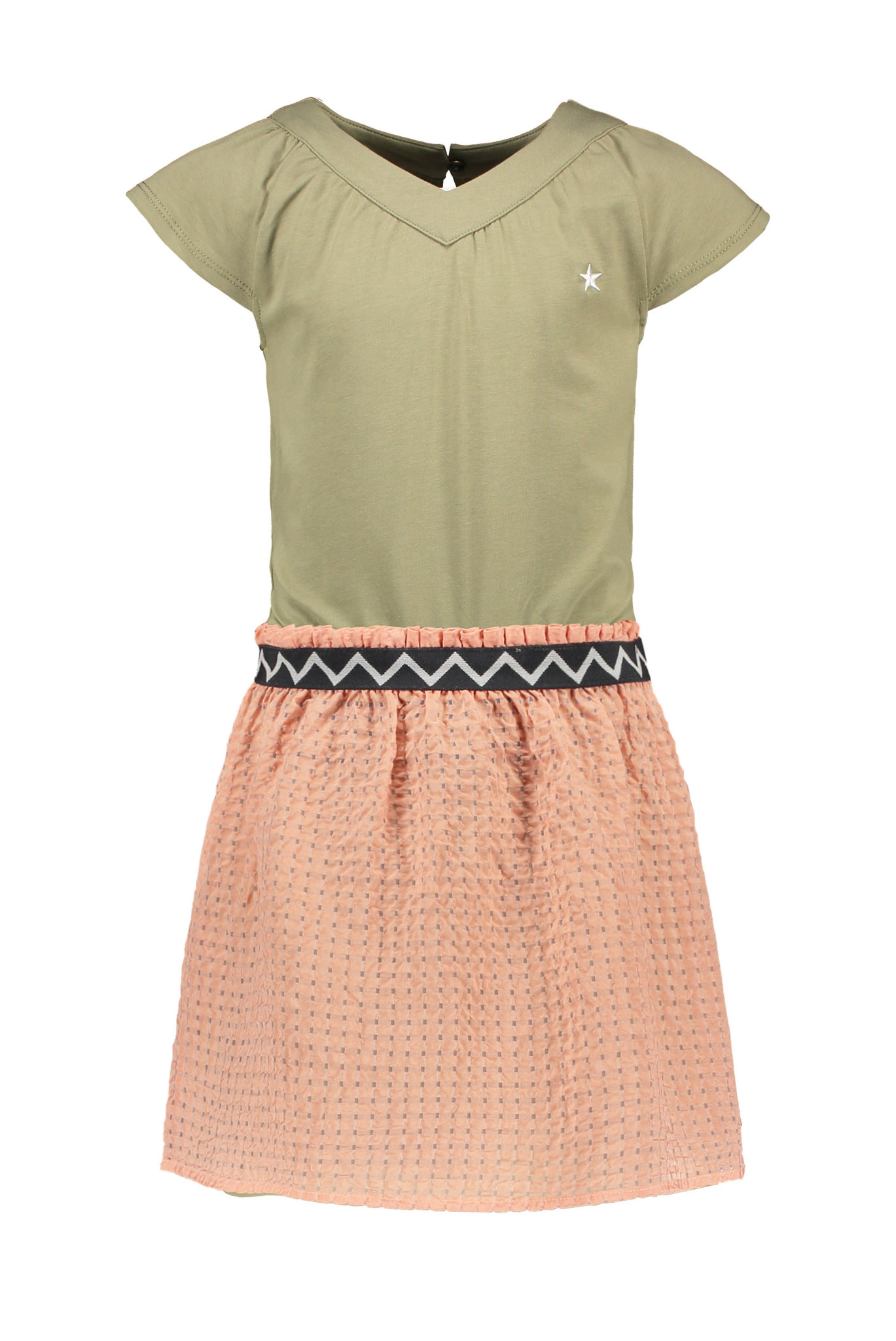 Jersey Dress with Detachable Fancy Skirt
