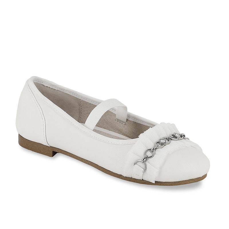 Girls White Ballerina Flats