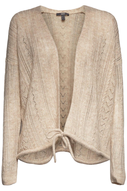 Pointelle Drawstring Cardigan
