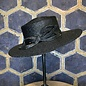 Ladies Black Boater Hat with Bow