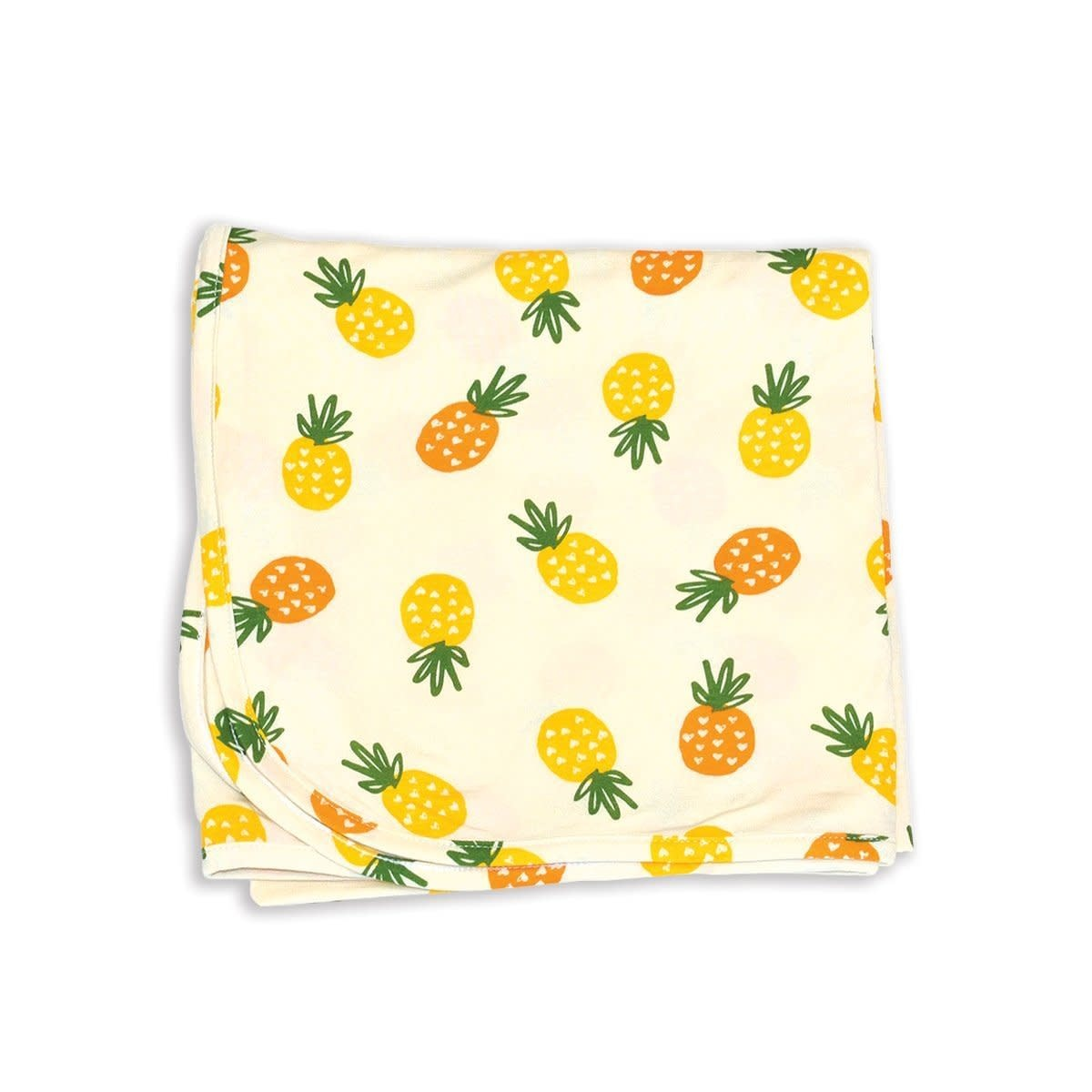 Bamboo Swaddle Blanket - Pineapple Love