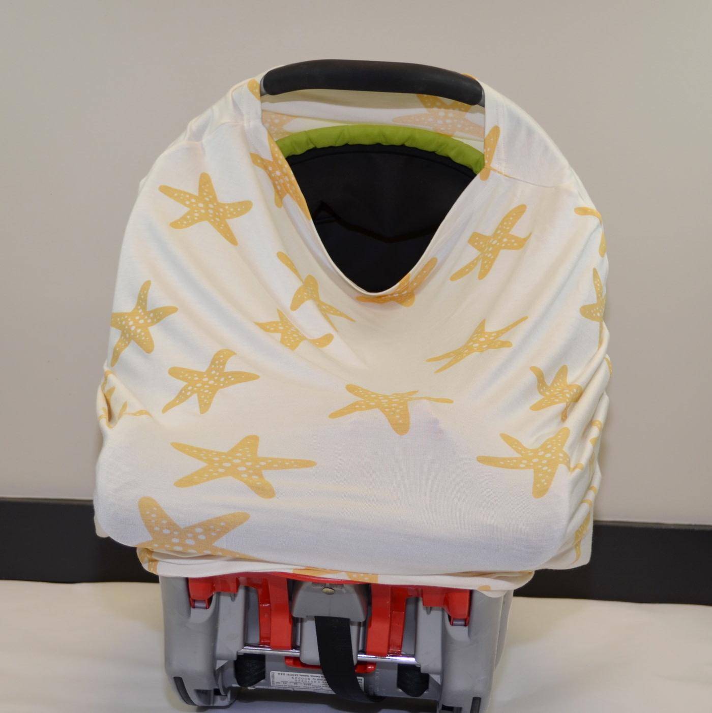 Bamboo Nursing/Car Seat Cover