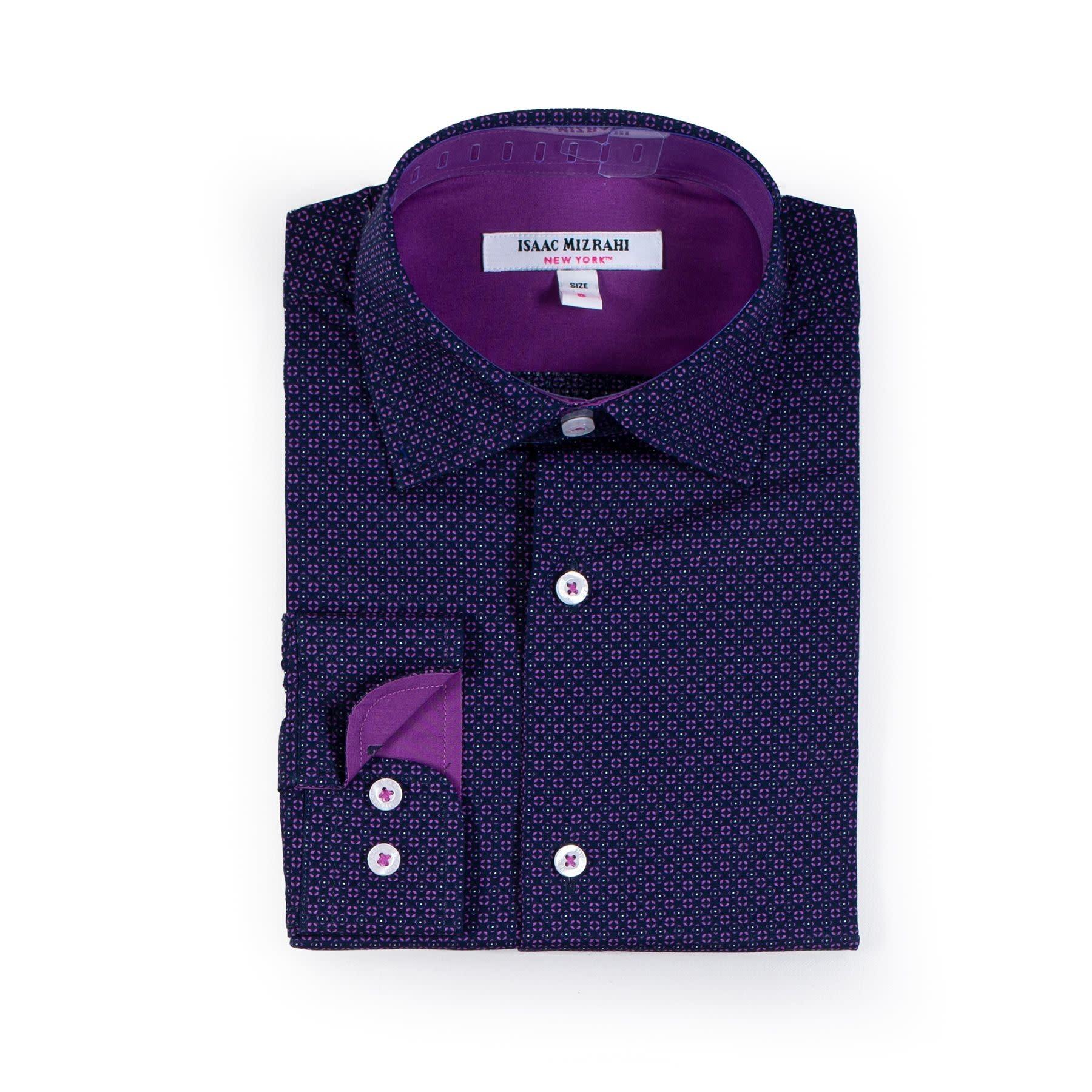 Boys Dress Shirt - Plum with Purple Emblem