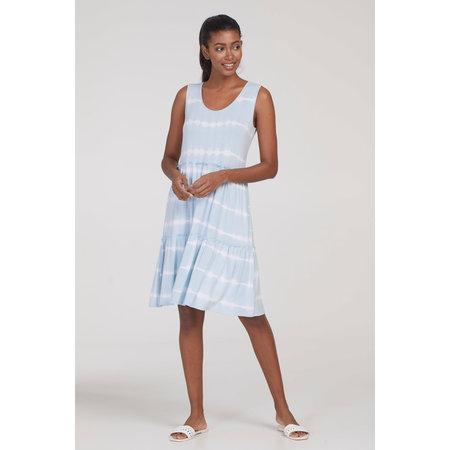 Sleeveless Dress with Flounce