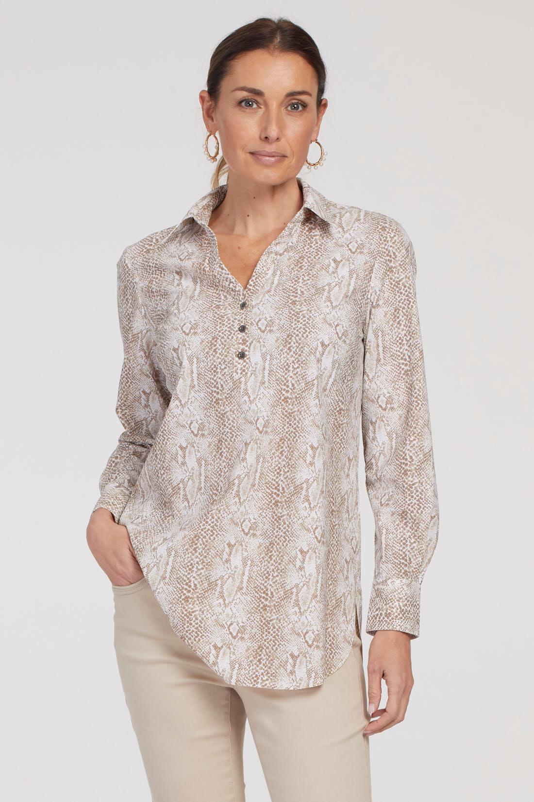 Long Sleeved Wrinkle Resistant Blouse