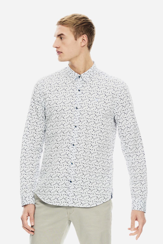 Long Sleeve Dress Shirt - Abstract Blues